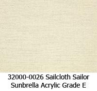 Sunbrella fabric 32000-0026 sailcloth sailor