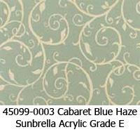 Sunbrella fabric 45099-0003 cabaret blue haze