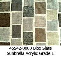 Sunbrella fabric 45542 box slate