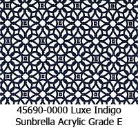 Sunbrella fabric 45690 luxe indigo
