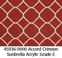 Sunbrella fabric 45936 accord crimson