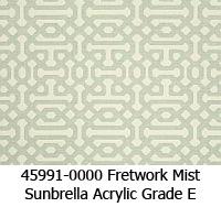 Sunbrella fabric 45991 fretwork mist