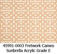 Sunbrella fabric 45991-0003 fretwork cameo