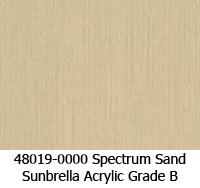 Sunbrella fabric 48019 spectrum sand