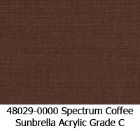 Sunbrella fabric 48029 spectrum coffee