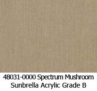 Sunbrella fabric 48031 spectrum mushroom