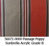 Sunbrella fabric 56071 passage poppy