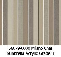 Sunbrella fabric 56079 milano char