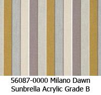 Sunbrella fabric 56087 milano dawn