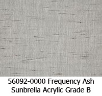 Sunbrella fabric 56092 frequency ash