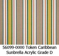 Sunbrella fabric 56099 token caribbean