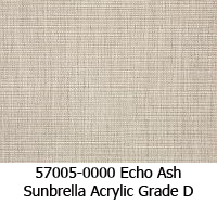 Sunbrella fabric 57005 echo ash
