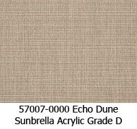 Sunbrella fabric 57007 echo dune