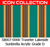 Sunbrella fabric 58007 traveler lakeside