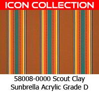 Sunbrella fabric 58008 scout clay