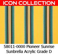 Sunbrella fabric 58011 pioneer sunrise