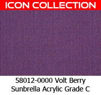 Sunbrella fabric 58012 volt berry