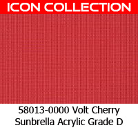 Sunbrella fabric 58013 volt cherry
