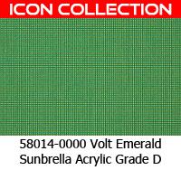 Sunbrella fabric 58014 volt emerald