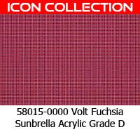 Sunbrella fabric 58015 volt fuchsia
