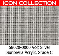 Sunbrella fabric 58020 volt silver