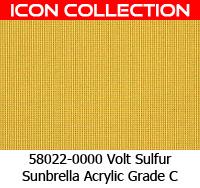 Sunbrella fabric 58022 volt sulfur