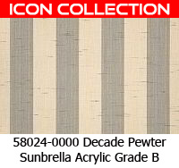 Sunbrella fabric 58024 decade pewter