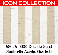 Sunbrella fabric 58025 decade sand