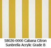 Sunbrella fabric 58026 cabana citron