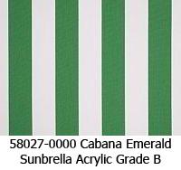 Sunbrella fabric 58027 cabana emerald