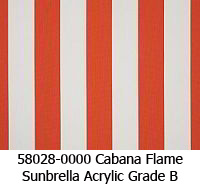 Sunbrella fabric 58028 cabana flame