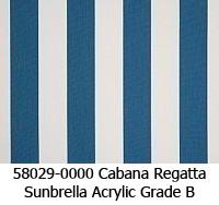 Sunbrella fabric 58029 cabana regatta