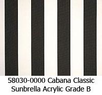 Sunbrella fabric 58030 cabana classic