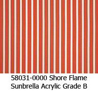 Sunbrella fabric 58031 shore flame