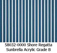 Sunbrella fabric 58032 shore regatta