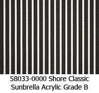 Sunbrella fabric 58033 shore classic