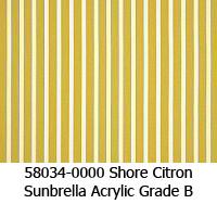 Sunbrella fabric 58034 shore citron