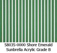 Sunbrella fabric 58035 shore emerald