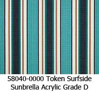 Sunbrella fabric 58040 token surfside