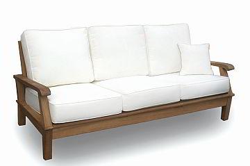 Teak deep seating sofa