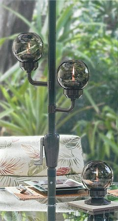 umbrella clip-on or table oil lamp