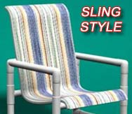 Sling style furniture collection