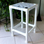 PVC strap bar stool