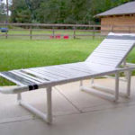 PVC strap chaise lounge chair