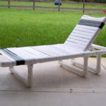 PVC strap child's chaise lounge chair