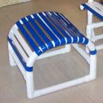 PVC strap ottoman footstool