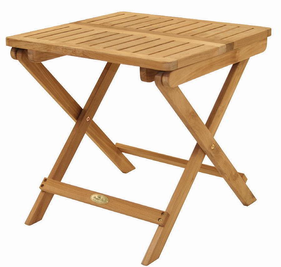 Teak folding picnic table