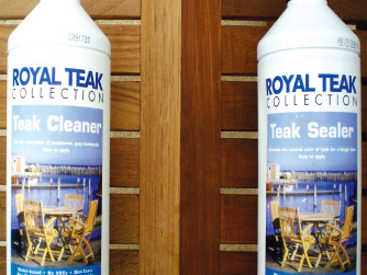 Teak cleaner & sealer
