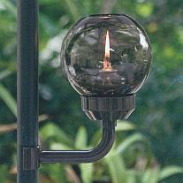 Umbrella mounted oil lamp