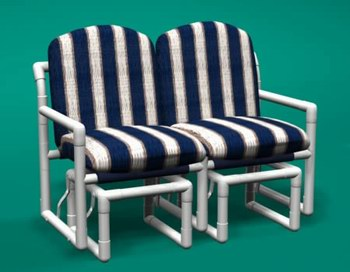 pvc outdoor patio furniture. classic loveseat double glider pvc outdoor patio furniture